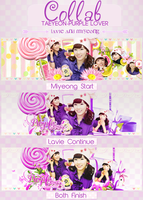 [COLLAB]  PURPLE LOVERS (WITH LAVIE) by NghiAshley201