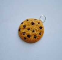 Chocolate Chip Cookie Pendant by ClayRunway