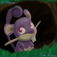 Pokemon Challenge 019-Rattata by midgear