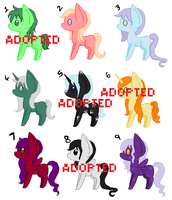 My Little pony - Point adopts! OPEN!!! 10 points! by Aristanova
