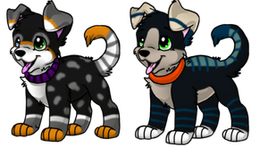 2 Puppy Adoptable Auction -STARTING AT 10 PTS EACH by Twine-Adopts