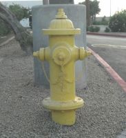 Yellow Fire Hydrant by CliffEngland