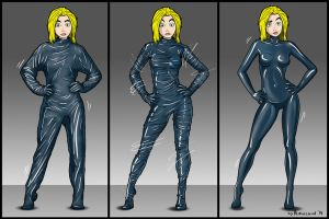 Living vacuum latex catsuit by ALeksecond