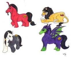 My Little Evil Disney Ponies by evolra