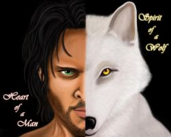 Spirit of Wolf Heart of Man by Emerald-Blue