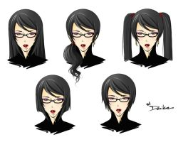Bayonetta New Hairstyle 1 by DarikaArt