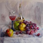 Still Life with grapes by Pervandr