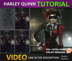Harley Quinn Tutorial Part by JesusAConde