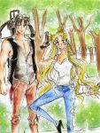 usagi and mamoru -  ( crossover TWD) by zelldinchit