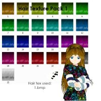 hair texture pack 1 by OurHeartsRhythm