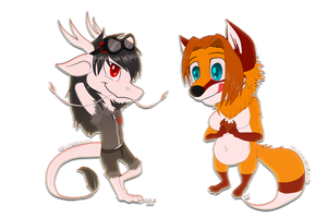 .:Com:. Chibis with cookie by Gamibrii
