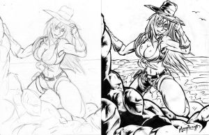 GoldDigger pencils inks by PeterPalmiotti