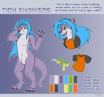 [Commission] Tich Showers Reference Sheet by LaydeeKaze
