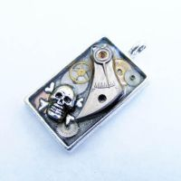 SKULL STEAMPUNK PENDANT 3 by Create-A-Pendant