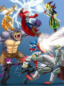 Sonic Avengers by InYuJi
