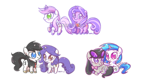 COMM - Chibi Pony Batch 001 by Kelsea-Chan