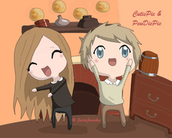 PewDiePie And CutiePie by JuliaJacobss