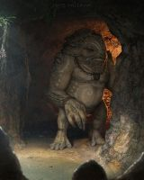 Goron Cave Guard by NateHallinanArt