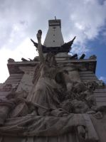Indianapolis monument in Monument Circle 1 by sakaphotogrfx