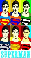 Superman comic print popart is back by TheGreatDevin