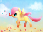 Filly Fluttershy by Gingersnaap