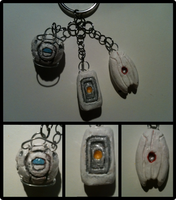 Portal 2 Charms by Blubble-The-Blubs