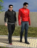 Jayden and Kyle Walking in the Park by Gix750