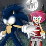 Dark sonic and Amy - 2011 by A-M-y-Rose