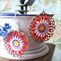 crochet earrings by jezzabell13