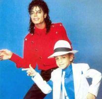 Mj with a little boy dancing by brebre890