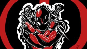 Deadpool Stencil BG by thehumancopier