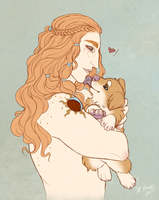 Kier and Pup by Anoki-Doll