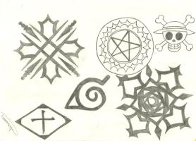 Anime symbols by ShelleyAnderson