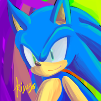 sonic doodle by misomin77