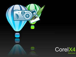 Corel x4 dock icons by hurtness