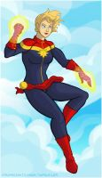 Captain Marvel by hpkomic