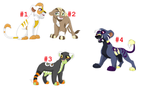 Lion adopts 2 closed by HazeAdopts