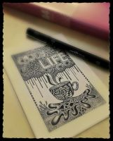 Enjoy Life - Doodle Art Photography by MilkySweets