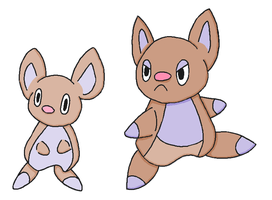 Fakemon- Jermouse and Bobound by Casey333