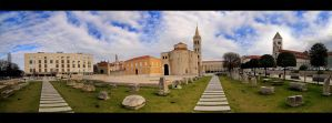 Zadar on a cloudy day by MatejBarisic