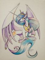Princess Celestia Painting FOR SALE by probablyfakeblonde