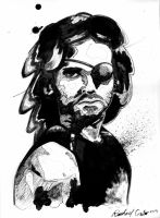 Kurt Russell Sketch by OverlordMortiroth