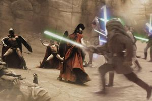 Spartans vs Jedi by Agent-Spiff