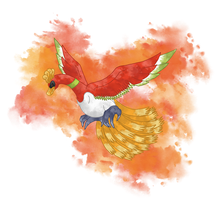 Ho-oh (Flying) V2 by Natakiro