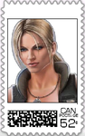 Sonya Blade Postage Stamp by WOLFBLADE111
