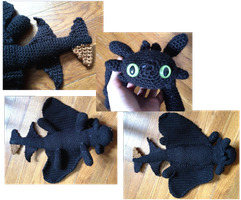 Toothless amigurumi by Leafquill