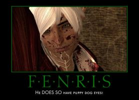 Dragon Age 2: Fenris Puppy Eyes Poster by ParisWriter