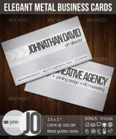 Elegant Metal Corporate Business Card by madebygb
