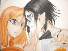 Orihime and Ulquiorra 3 by NeoAngeliqueAbyss