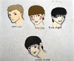 House of Night guys color by sbrigs
